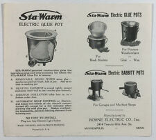 Vintage Advertising, Sta-Warm Electric Pots, Rohne Electric Co., Minneapolis MN