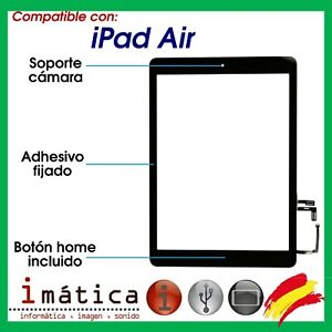 PANTALLA TACTIL IPAD AIR 5 A1474 SCREEN DIGITALIZADOR BOTON HOME IC CHIP NEGRA
