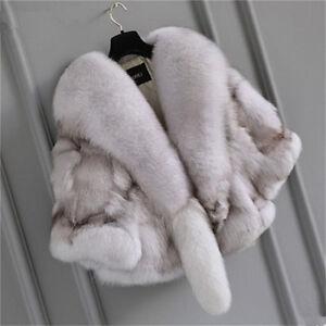 Women's Fur Coats Real Fox Fur Short Coat Jacket Fashion Fur Clothing