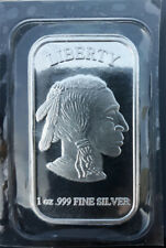 Indian American Buffalo 1oz .999 fine silver bar by SilverTowne
