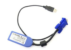 Raritan D2CIM-VUSB VGA + USB KVM Switch Cable Adapter Virtual Media Cable Module