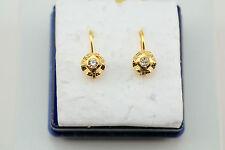 14K gold 15 X 11 mm lever back earrings