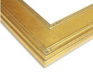 "3 ""  Warm Gold Plein Air Frame Antique photo art gallery 5x7 M14G"