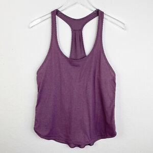 Lululemon Size 6 Womens Activewear Top Purple Heathered Tank Yoga Running Shirt