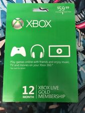 Brand New XBOX LIVE 12 MONTH GOLD GAME CARD  Free Shipping