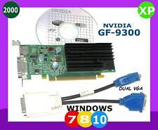 WINDOWS 10 DUAL Monitor SFF Video Card.  PCI-E 16.Low Profile  2-VGA Ports