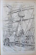 JOURNAL DES VOYAGES 524 de 1887 MARINE LE HAVRE ARRIVA GLACE PORT DE VALPARAISO