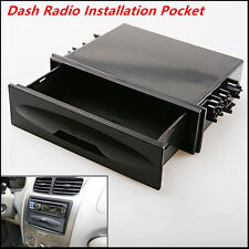 Universal Car Auto Single Din Dash Radio Installation Pocket Kit Storage Box New