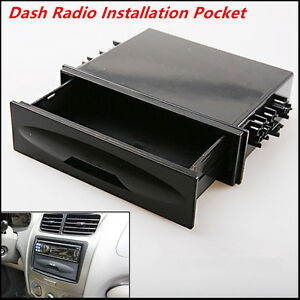Universal Car Auto Single Din Dash Radio Installation Pocket Kit Storage Box New