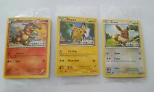Pikachu Eevee and Charmander Build a Bear Workshop Black Star Promo Pokemon Card