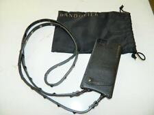 Bandolier Sarah Black Pebble Leather Crossbody w/Pewter Hardware/iphone 6, Used