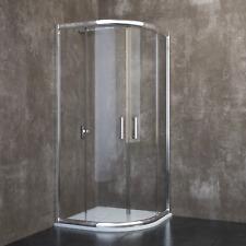 Box doccia cabina bagno semicircolare angolare in cristallo da 6mm ed alluminio