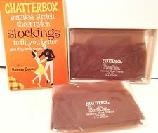 New Old Stock Vintage Chatterbox by Bonnie Doon Micro Stretch Nylon Stockings