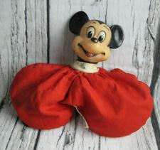 Mickey Mouse Vintage Walt Disney Productions Japan Pellet Plush Beanbag Doll Toy