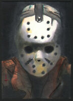 """Jason Voorhees "" from ""Friday the 13th "" Sketch card by Turtle Original Art"