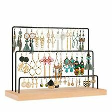 Earring Stand Stud Earring Holder Card Display Stand 3-Tier Jewelry Tree Black