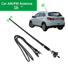 16 Mount Swivel Base Car Radio Amfm Amplified Signal Aerial Antenna Universal