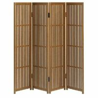 Folding Screen Partition Byoubu 30cm width x 4 panels made of Akita cedar.New