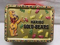 LUNCHBOX-MINI HARIBO Gold-Bears Metal Tin, Colorful 4 X 5.5 Inch Size