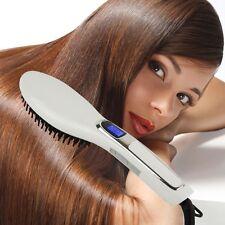 Hair straightening brush Ceramic Heat Electric UK LCD Straightener Comb UK-plug