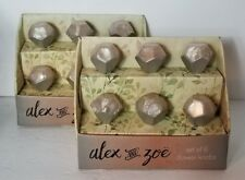 Set Of 12- Alex & Zoe Artistic Glass Marble Drawer Pull Knobs