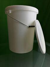 25 Liter Eimer leer,  weiß mit Deckel, Leereimer, Lebensmittelzulassung