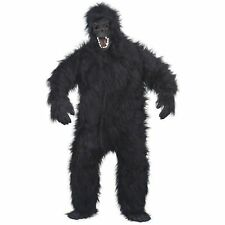 Furry Gorilla Ape Monkey Novelty Body Suit Adults Mask Mens Fancy Dress Costume