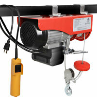 880 Lb Electric Cable Hoist Crane Lift Garage Auto Shop Winch W/Remote 110V