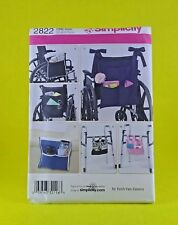 Simplicity Pattern #2822 Wheelchair / Walkers Disability Accessories Uncut