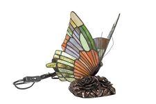 Farfalla Tiffany Lampada da Comodino Tavolo Multicolore abat jour