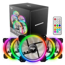 aigo 5 Pack 120mm RGB LED Computer Case PC Cooling Fan High Airflow CPU Cooler