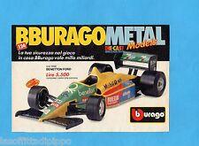 TOP989-PUBBLICITA'/ADVERTISING-1989- BURAGO - BENETTON FORD 1/24