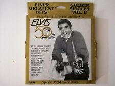 "Elvis Presley GOLDEN SINGLES VOL.2 (50th Anniversary) 7"" gold coloured disc box"