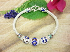 925 Sterling Silver Jewelry Gift Stunning Detail Beads Bracelet Thai Solid