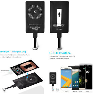 For Huawei P30/P20 Smartphone Qi Charger USB-C Type C Wireless Charging Receiver