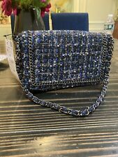 Zara Hand Bag Tweed Chain Can Be Clutch New With Tags Classy Free Shipping