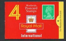 GB 1991 GJ1 4 x 33p Worldwide cartolina BARCODE BLOCCHETTO