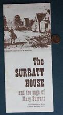 1970s Era Clinton,Maryland Mary Surratt House-John Wilkes Booth brochure-Lincoln