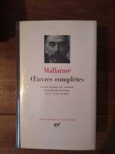Mallarmé Oeuvres complètes bibliothèque de la Pléiade Gallimard