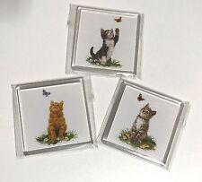 Macneil Studios GATTINO & Farfalla Frigo Calamita Set di 3 Little Cat lovers regalo