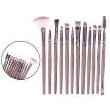 12 PCS Pro Makeup Brushes Cosmetic Set Eyeshadow Face Brush Starter Tool ^P