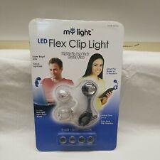 📖My Light 2 LED Flex Clip Book Lights & Batteries Black & White Night Vision🔦