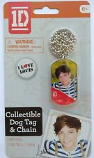 1D One Direction Collectible Dog Tag & Chain - I Love Louis