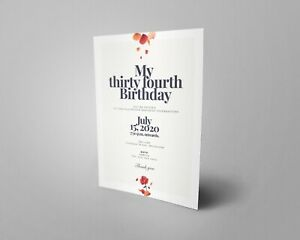 PERSONALISED invites Birthday invitations customised any age with MANY DESIGNS