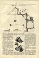 1884 Hydraulic Overside Crane For Lighters Leadbeater Railway Chair