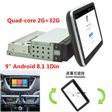 Android 8.1 1Din 9In Car Stereo Radio GPS Wifi OBD2 Mirror Link Player 2GB RAM