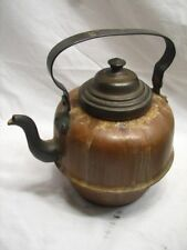Antique Goose Neck Spout Copper Teapot Signed Wiers Tea Pot Kettle Gooseneck