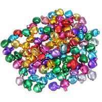 100XColorful Small Jingle Bell Findings Mixed Color 6mm/8mm/10mm Sew On Craft Sh