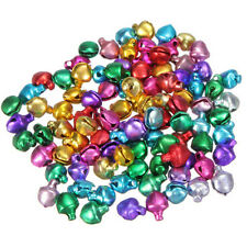 100x Colorful Small Jingle Bell Finding Mixcolor 6mm/8mm/10mm Sew'On Craft