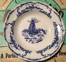 Vintage Delph plate Or Bowl With Sail Boat